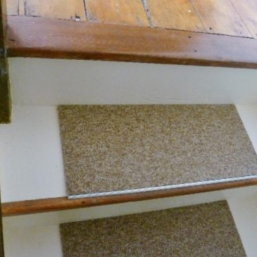 Econyl Carpet tiles on the stairs