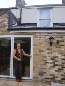 Elizabeth Baggs outside back door