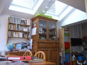 Passive solar gain from extension