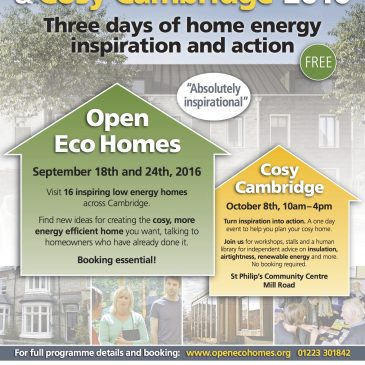 Open Eco Homes two weeks away