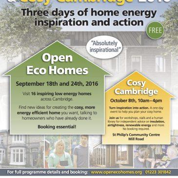 Open Eco Homes two weeks away